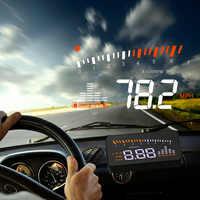 X5 Auto HUD Head Up Display OBD II EOBD Automatische Passenden Überdrehzahl Warnung System Projektor Windschutzscheibe Auto Spannung Geschwindigkeit Alarm