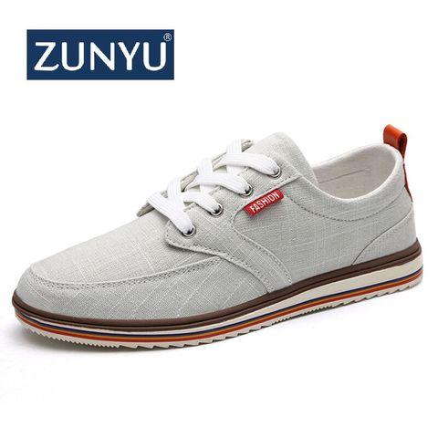 ZUNYU Men Casual Shoes 2019 Canvas Shoes Men Breathable Casual Canvas Men Shoes Walking Men Shoes Chaussure Homme Factory sales Pakistan