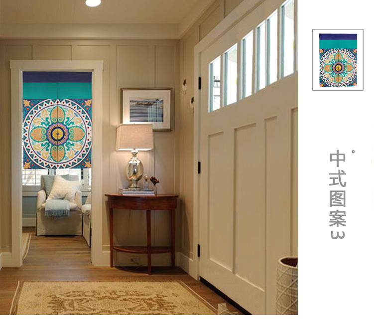 patrn chino disco circular figura espesar noren puerta cortina de japn ttem decoracin cortina puerta cortinas para la sala d