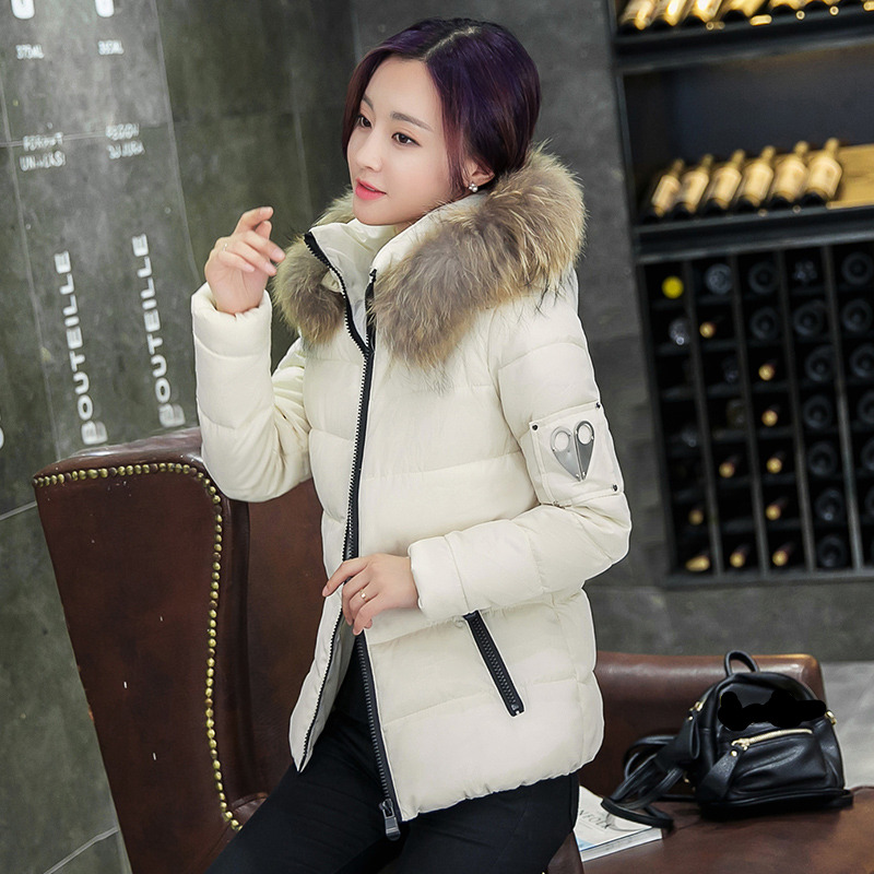 New Fashion  Winter Jacket Women Slim Female Coat Thicken Parka Down Cotton Clothing Red Clothing Hooded Student Have a collar women s jacket winter 2017 new student hooded short down cotton parka plus size coat slim thin ladies casual clothing hot sale