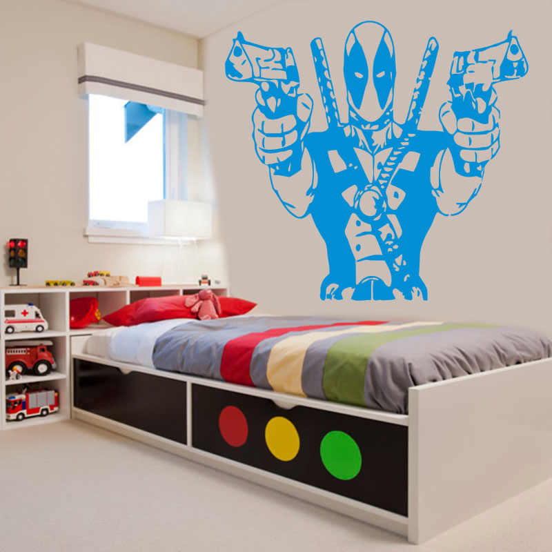 Deadpool Marvel Superhero Action Hero Children's Decal Wall Art Sticker Picture SZ-9
