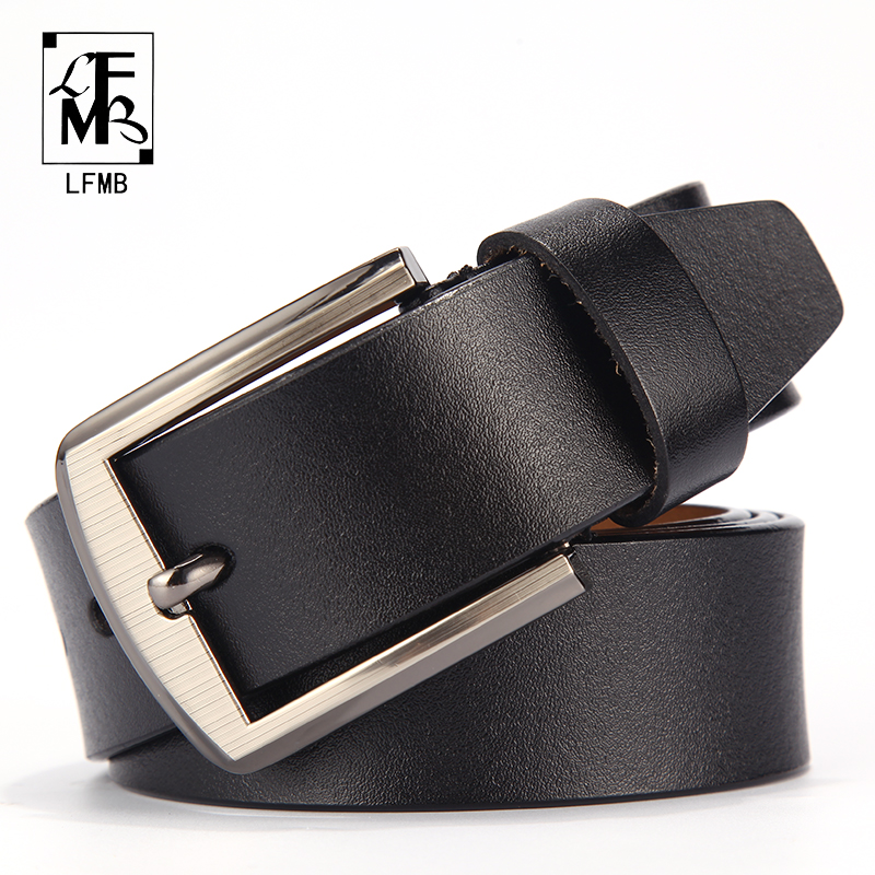 [LFMB]men Leather Belt Male Genuine Leather Strap Trousers Male Strap Genuine Leather Belt Men Ceinture Homme Cuir Veritable