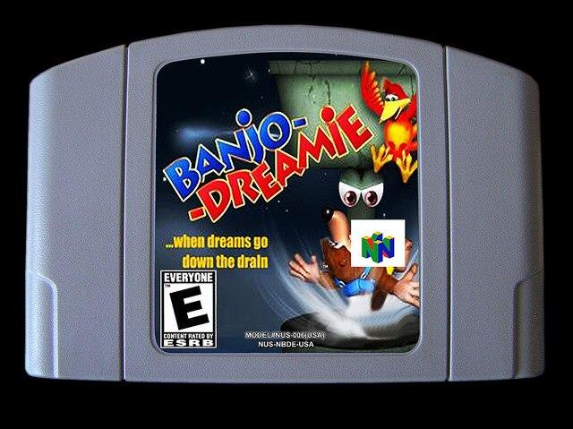 لعبة 64bit ** بانجو دريمي (نسخة الولايات المتحدة الأمريكية!! اللغة الإنجليزية!!)