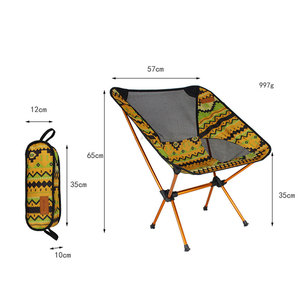 Image 5 - Ultralight Moon Chairs Portable Garden Al Chair Fishing The Director Seat Camping Removable Folding Furniture Indian Armchair