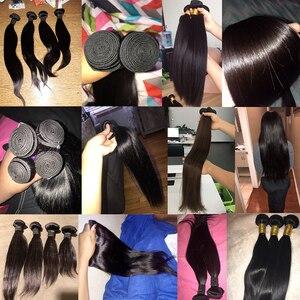 Image 4 - Straight Hair Bundles Human Hair Bundles Brazilian Hair Weave Bundles Human Hair Weave Extensions 8 To 30 Inch Non Remy Bundles