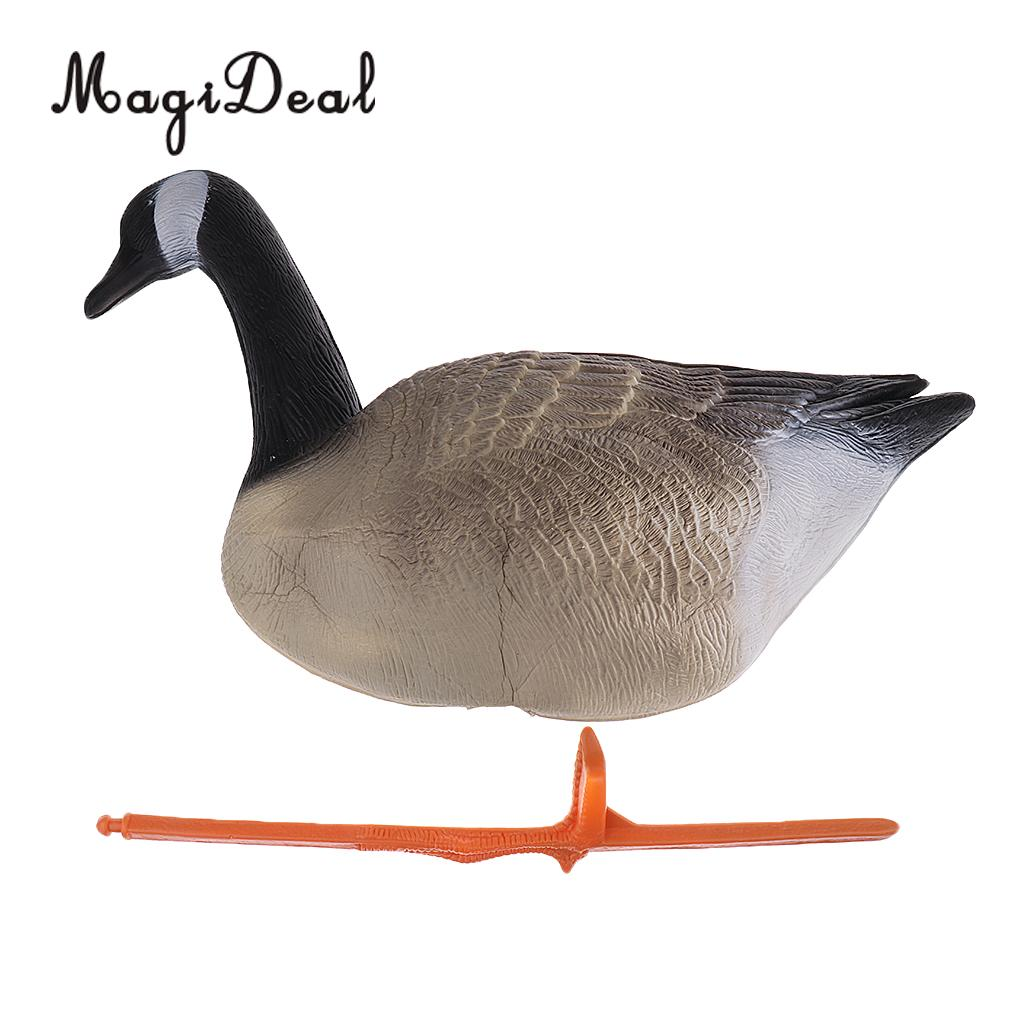 MagiDeal New Lifelike XPE Simulation Bait Goose for Outdoor Hunting Decoy Gaming Lawn Garden Backyard Ornament 3 Differ Goose