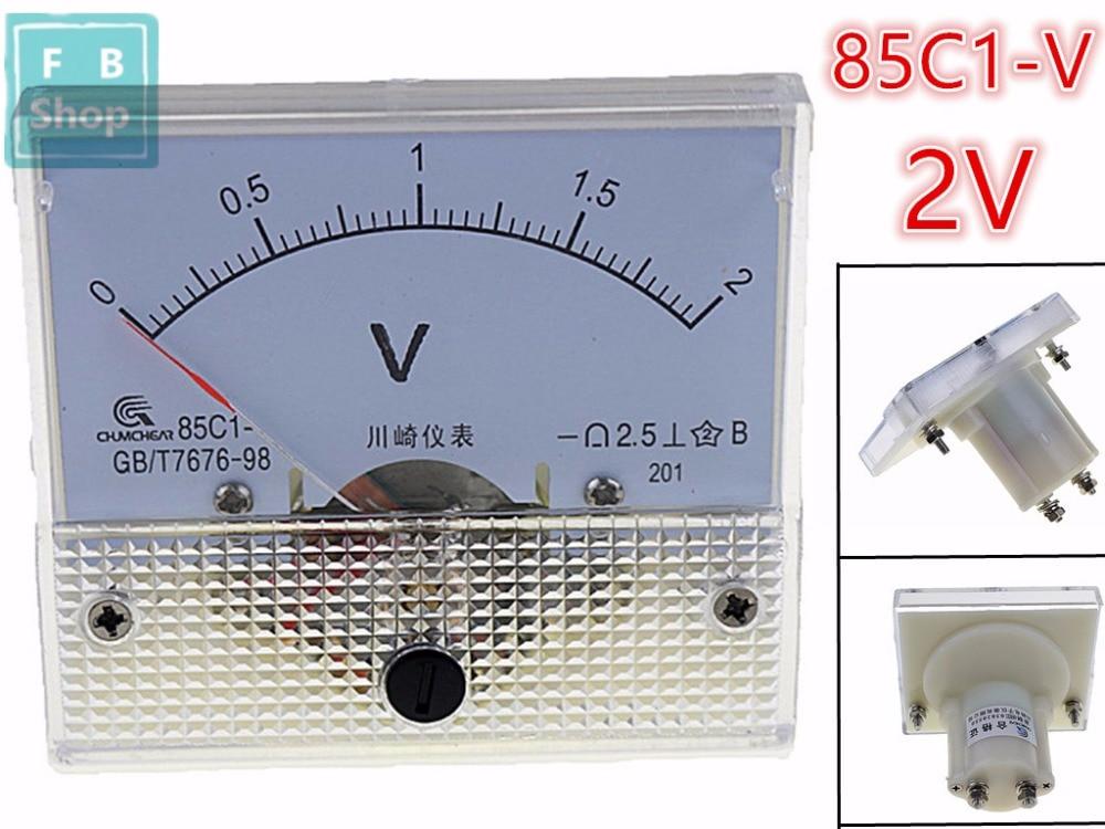1 Stücke 85c1 1 V 2 V 3 V 5 V 10 V 15 V 20 V 30 V 50 V 75 V Analog Dc Spannung Nadel Panel Meter Voltmeter Gut Verkaufen Auf Der Ganzen Welt