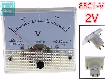 1PCS 85C1 1V 2V 3V 5V 10V 15V 20V 30V 50V 75V Analogue DC Voltage Needle Panel Meter Voltmeter