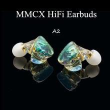 A2 MMCX 2pin Resin Earbuds Powerful IEM Hifi Earphone Compound Diaphragm Dynamic Ear Bud Monitor DJ Stage Custom Made Headphones