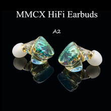 A2 MMCX 2pin Resina Auricolari Potente IEM Hifi Auricolare Composto Diaframma Dinamico Ear Bud Monitor DJ Stage Custom Made Cuffie