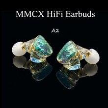 A2 MMCX żywiczne słuchawki douszne potężny IEM słuchawki hi fi związek membrana dynamiczna słuchawka Monitor DJ etap wykonane na zamówienie słuchawki MMCX