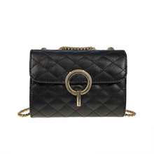Lock Catch Bags Women PU Leather Handbags Chain Solid Shoulder Bag Mini Woman Messenger Purses and