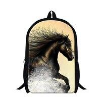 Dispalang Children School Backpacks Crazy Horse Animal Print College Students Shoulder School Bag Casual Mens Traveling Bag
