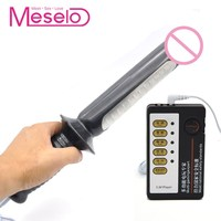 Meselo Electric Shock Anal Plug Toys Vibrator BDSM Game Electric Dildo Vagina G spot Therapy Adult Product Sex Toy For Women Men