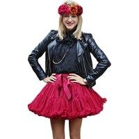 Buenos Ninos Girls Fluffy Chiffon Adjustable Waist Pettiskirts Solid Colors tutu skirts Dance Skirt Christmas Tulle Petticoat