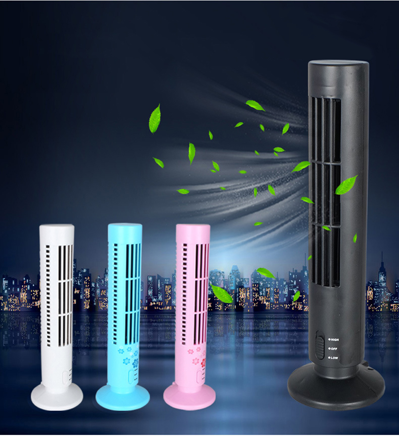 Portable Mini USB Cooling Fan Durable Bladeless No Leaf Air Conditioner Cooling Cool Tower Fan for Home Office Desk portable handheld mini usb cooling fan bladeless household no leaf air conditioner fans electric conditioning cooler office home