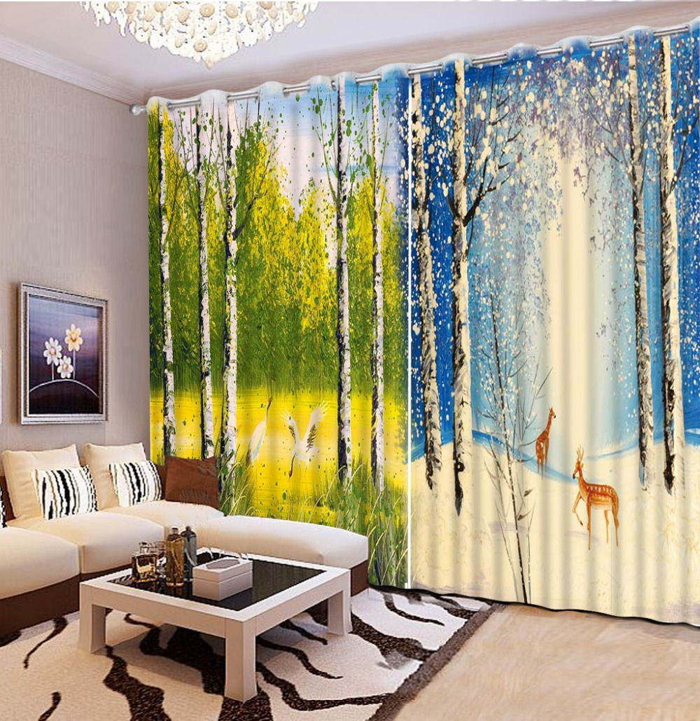 Cafe curtains for bedroom - 3d Home Decor Fashion Decor Home Decoration For Bedroom Nature Window Curtains Forest Nature Scenery