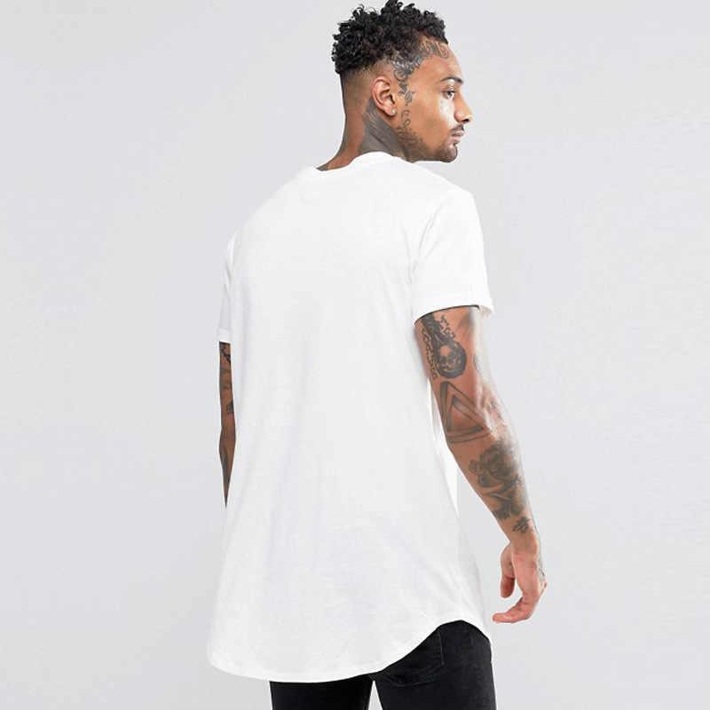 Harajuku hommes T-shirt Hip Hop hors blanc T-shirt Homme mode vêtements à manches courtes coupe ample T-shirt