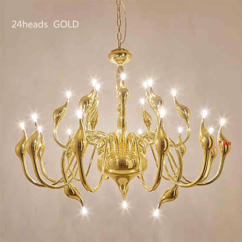 Art Deco European Candle Crystal LED Swan Chandeliers Ceiling Bedroom Living Room Modern Decoration G4 24 Lighting Free Shipping crystal candle lamps modern crystal chandelier living room hanging lighting bedroom ceiling restaurant led chandeliers