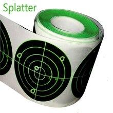 "Splatterburst מטרות 250 pcs 3 ""מתיז יעד מדבקת יריות פרץ בהיר ניאון ירוק בעת פגיעה תיקון תווית נייר"