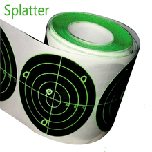 """Splatterburst Target 250 pcs 3 """"Splatter di Destinazione Autoadesivo Colpi Scoppio Luminoso Fluorescente Verde Al Momento Dellimpatto di Riparazione Etichetta di Carta"""