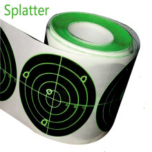 "Target Stickers (Qty 250pcs 3"") Splatter Target Sticker - Instantly See Your Shots Burst Bright Florescent Green Upon Impact(China)"