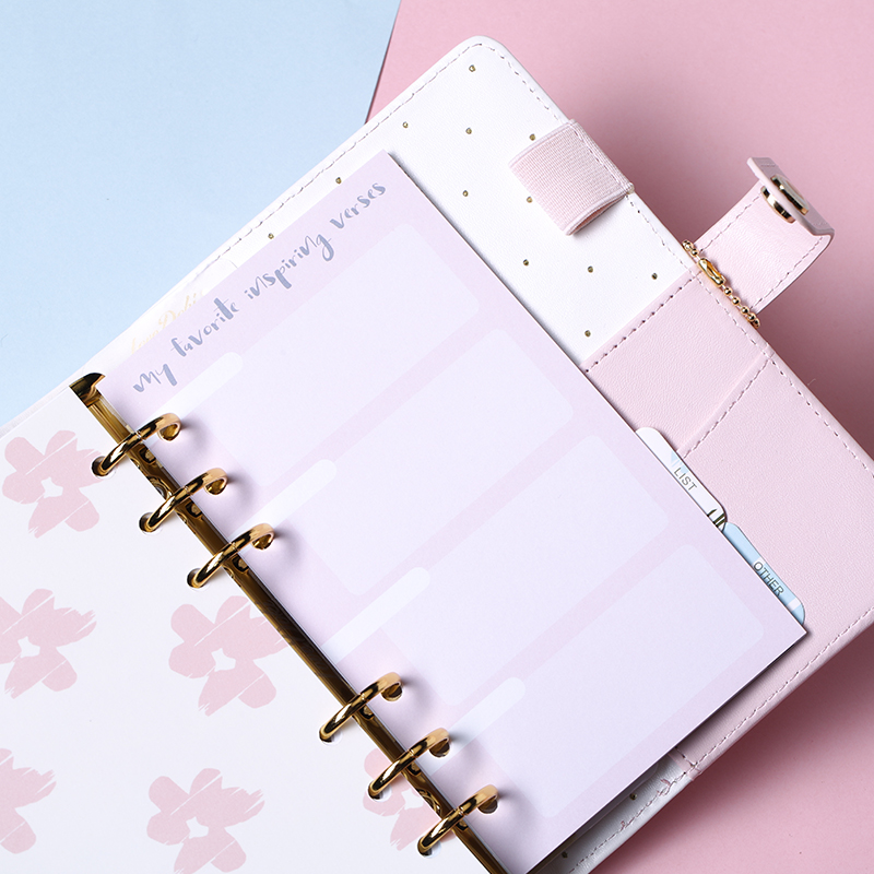 Dokibook 2018 Planner Refill Notebook Inner Paper For Spiral planner A5A6 Diary Monthly Weekly Planner Schedule Book For Filofax