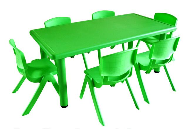 120*60*50cm High Quality Children Tables Kindergarten Desk With 6 Pieces Chairs