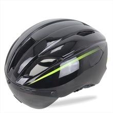 Aero Ultraligero En molde Casco de Bicicleta Ciclismo 11 Respiraderos Ciclismo Adultos Cascos con gafas de Sol ajustar Bicicleta Bici Casqu
