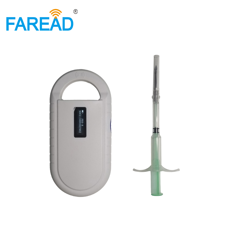 RFID Animal X100pcs 2.12*12mm ISO Microchip For Pets Dog Vets Injector + X1pc 134.2KHz Chip Reader For Animals