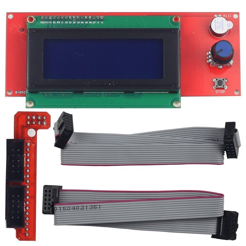 купить Promotion 3D Printer Kit Reprap Smart Parts Controller Display Reprap Ramps 1.4 2004 LCD LCD 2004 Control по цене 485.13 рублей