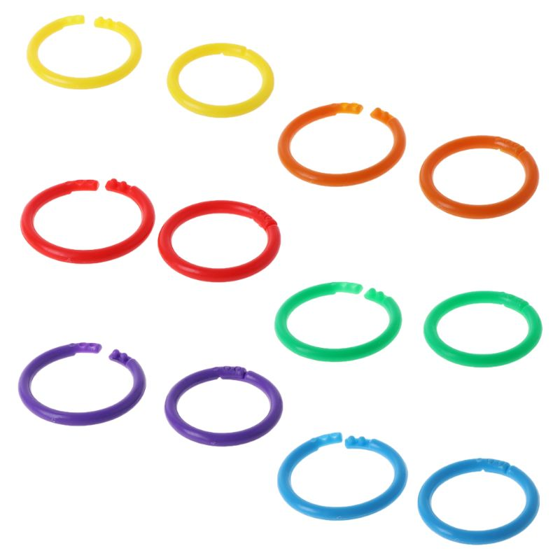20x Creative Plastic Circle Multi-Functional Loose Leaf Ring Binder Hoop For DIY Photo Scrapbook Album Book Office