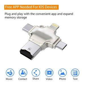 Image 5 - Ingelon SD כרטיס קורא מיקרו כרטיס מתאם מתכת USB 3.0 microsdhc/sdxc כדי xqd Cardreader OTG adaptador usb עבור ברק מתאם
