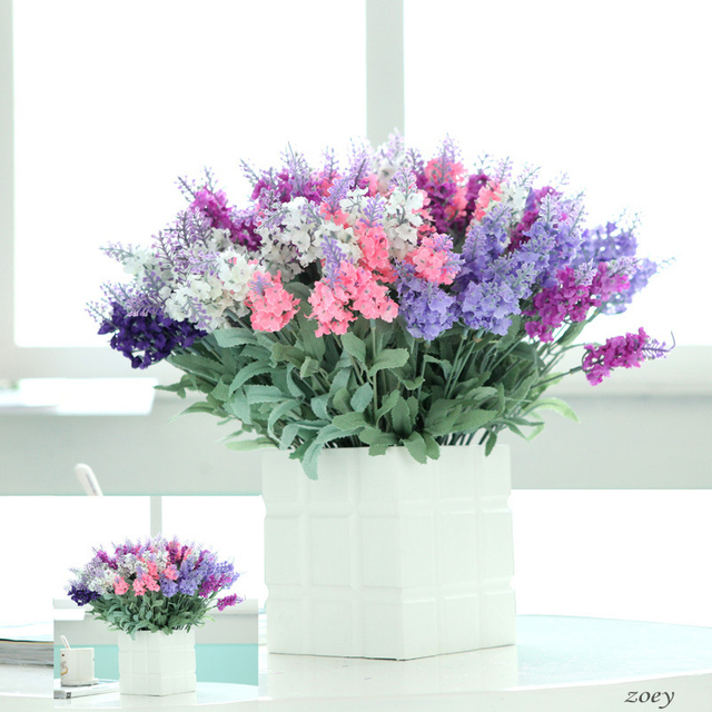 5 Branches 10 Heads Artificial Lavender Flower Artificial Silk