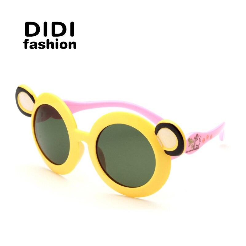 DIDI Kids Plastic Titanium Sunglasses Boys Girls TR90 Polaroid Goggle Baby Children Gafas Round cute Oculos De Sol Infantil H128
