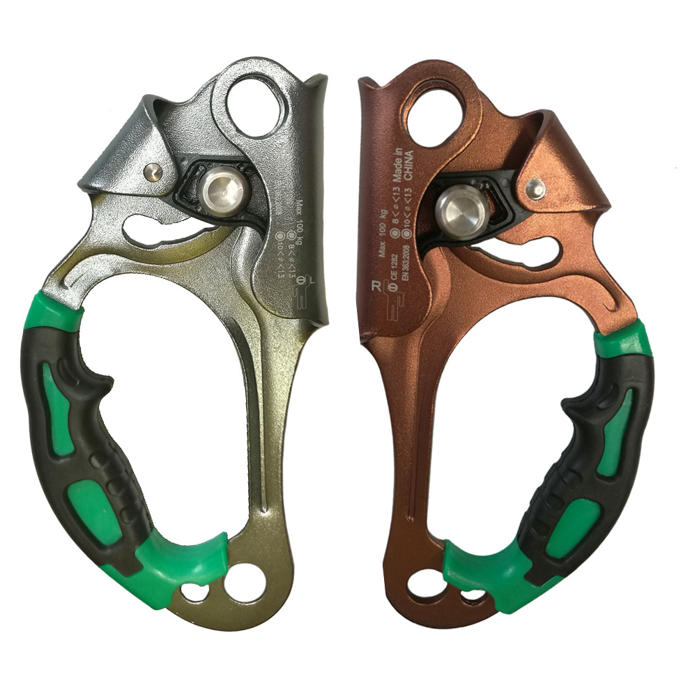 Rock Climbing Left Right Hand Ascender Handheld Riser For Tree Carving Rescue Arborist Rappelling Working Capture Rigging Tools