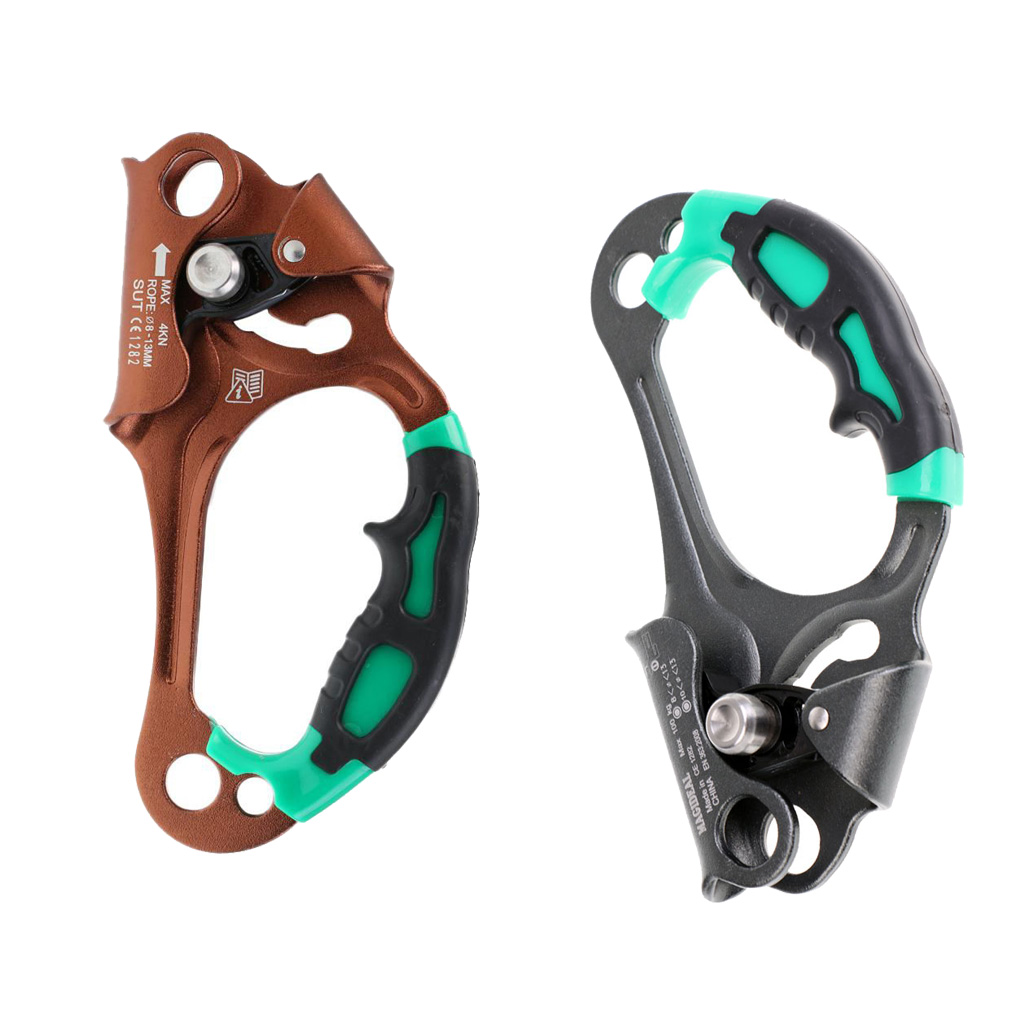Durable Left + Right Hand Ascender Rock Climbing Tree Arborist Rappelling Gear Equipment for Camping Caving Mountaineer 100KG hand wrist orthosis separate finger flex spasm extension board splint apoplexy hemiplegia right left men women