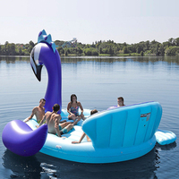 530*470*210cm Giant Inflatable Peacock Swimming Pool Float For Adult Kids 6 Person Huge Peacock Air Mattress Water Toys Flotador