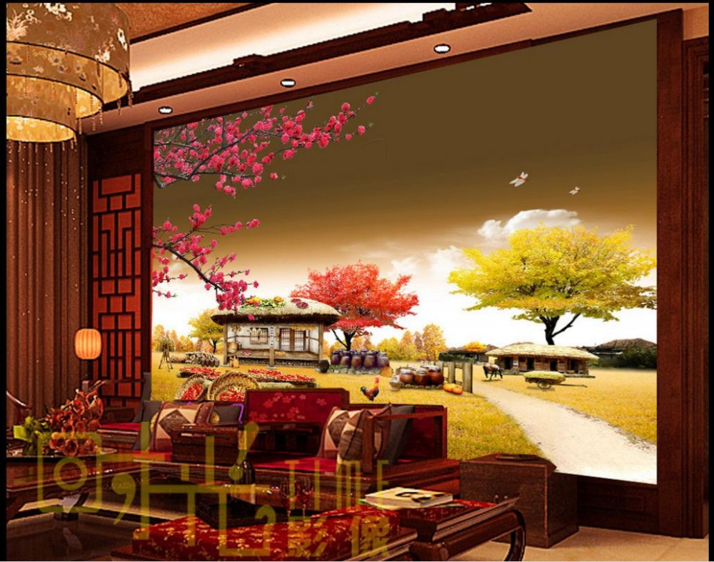 Custom 3d Wall Murals Wallpaper Small Farm House Bedroom Wallpaper