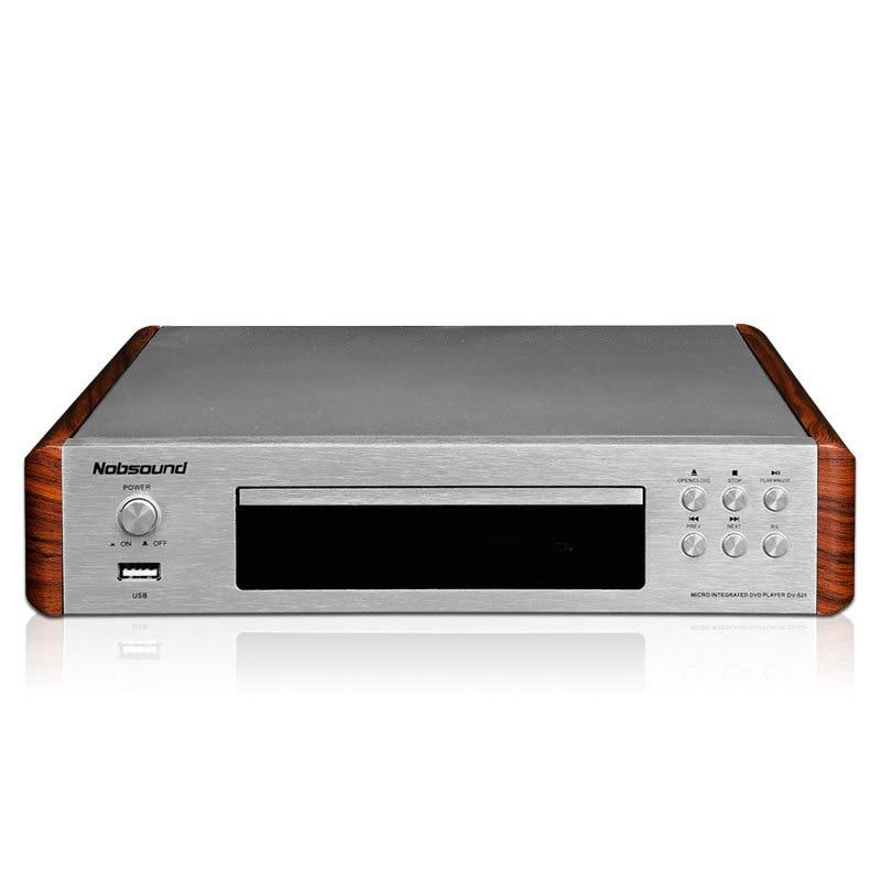 2018 Nobsound DV-525 High Quality DVD/CD/USB Player Signal Output Coaxial/Optics/RCA/HDMI/S-Video Outlets 110-240V/50Hz nobsound dv 525 high quality dvd cd usb player signal output coaxial optics rca hdmi s video outlets 110 240v 50hz