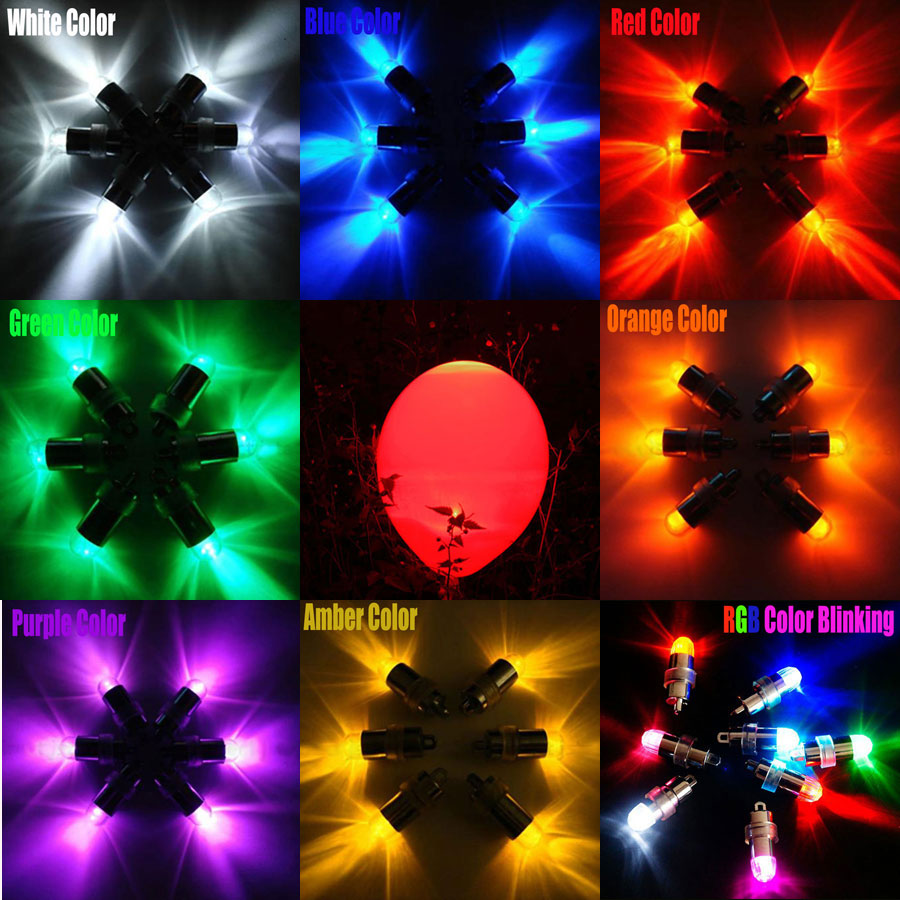 1PC Waterproof LED Balloon Light Battery operated led party lamps For Wedding Centerpiece KIT Eiffel Glass Vases Decoration ...