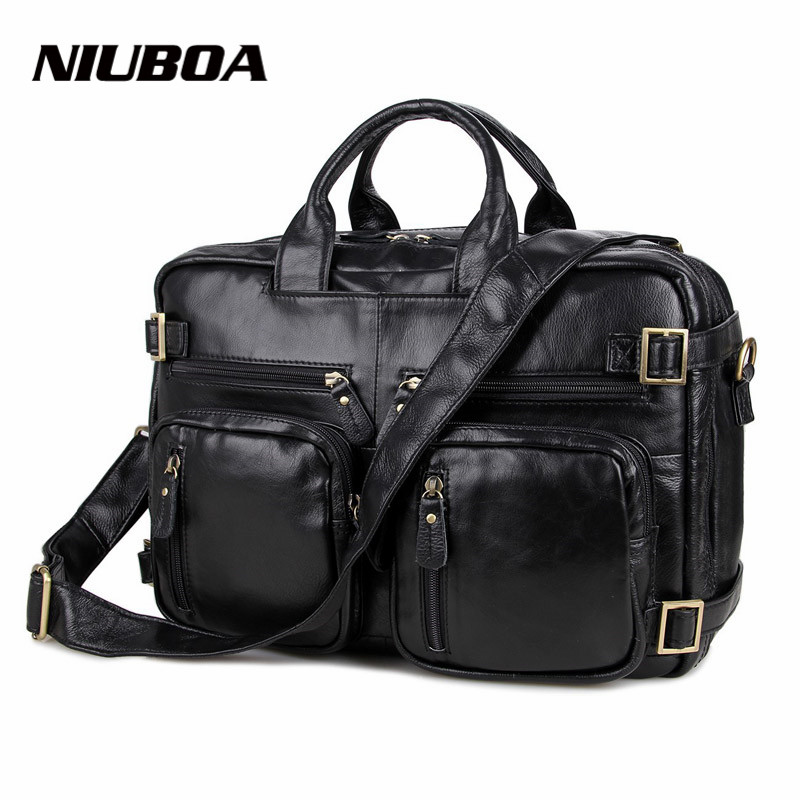 Genuine Leather Men Bag Totes Handbags Men Messenger Bags High Quality Cow Leather Cowhide Briefcase 15.5 Laptop Shoulder Bags chispaulo women genuine leather handbags cowhide patent famous brands designer handbags high quality tote bag bolsa tassel c165