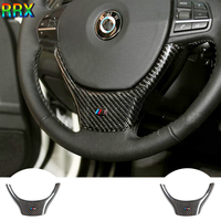 Promo RRX 2010 2015 fibra de carbono volante embellecedores molduras interiores stiker embellecedores para BMW 5 series