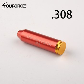 цена на Red Laser CAL .243 .308 REM Dia 7-8mm Bore Sighter Cartridge Bullet Shaped Boresight