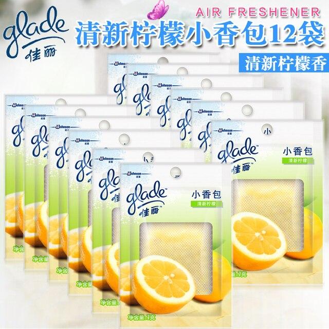 12 Bags Beauty Small Sachet Lemon Fragrance Wardrobe Closet Fresheners,  Laundry Bags Fragrance Air Freshener