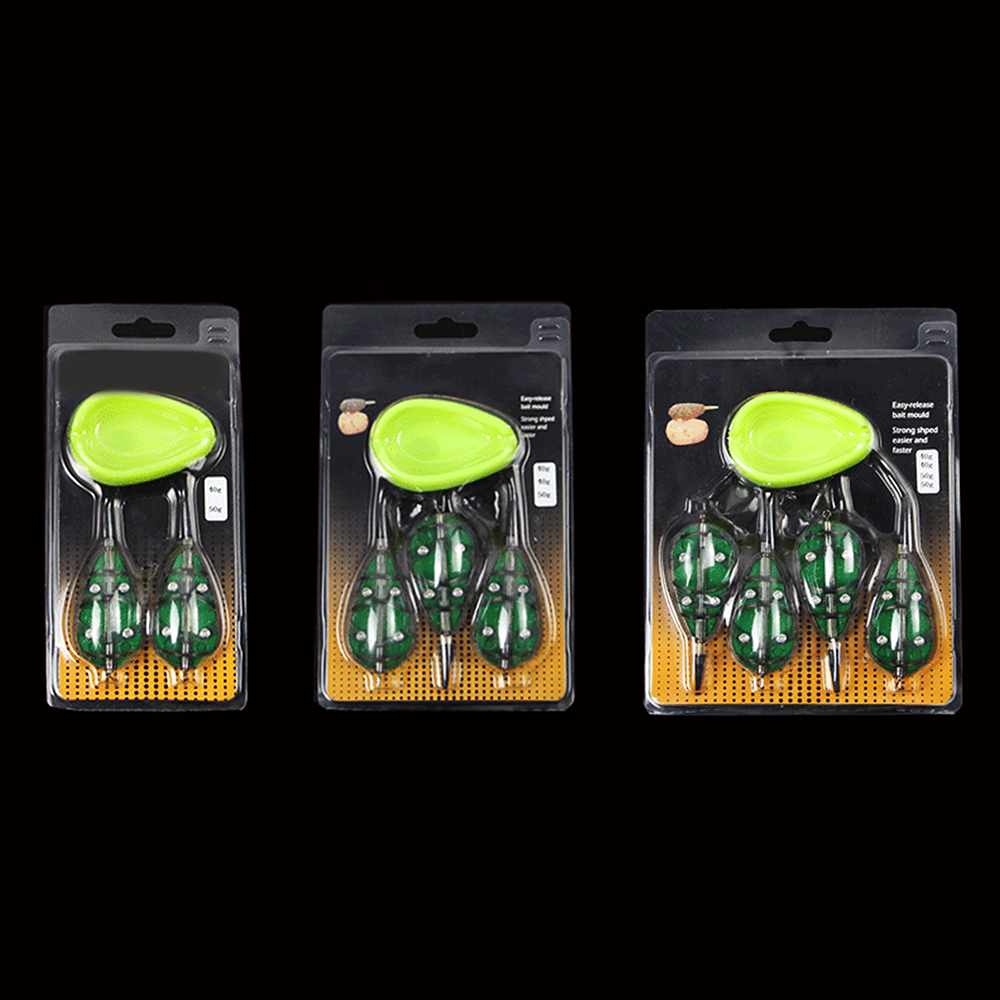 Fish Lure Quick Release Mould Fishing Set Carp Terminal Tackle 4 Feeders And 2 Method Moulds 40g 50g Fishing Feeder