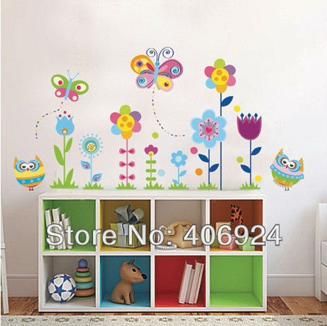 New Arrival Removable Bedroom Wall Decals Nursery School Decor Baby Room Vinyl