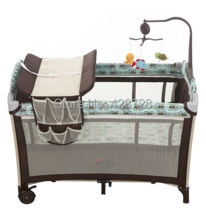 2016 Kids Sleeping Bags Pillow Cribs For Twins Babies Baby Crib Bp Multifunctional Folding Baby Bed Fashion Game Bedding Set