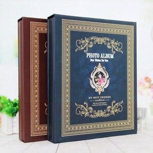 Image 1 - 6 zoll 500 Blätter Retro Boxed Fotoalbum Einfügen Sammelalbum 4R Kinder Album Hause Paare Hochzeit Alben Foto Hause Dekoration