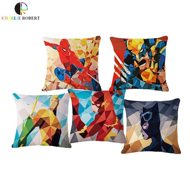 batman car chair handicap recliner chairs super heros home decorative pillow cushion ironman superman green lantern captain america decor hh1035